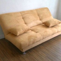 sofa bed promo kain suede