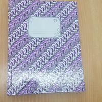 Buku Tulis Kwarto Hard Cover Tebal Batik