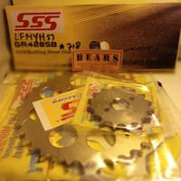 Gear dan Rantai Set Kawasaki W175 merk SSS Original