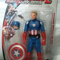 Mainan action figure captain amerika the avengers with LED TERMURAH