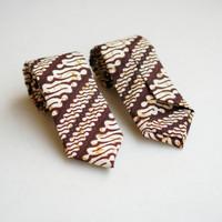Dasi Batik Kuning/Coklat