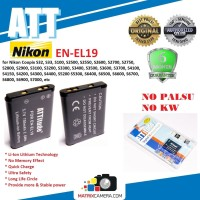 ATT Battery Nikon EN-EL19 Baterai Batere for Coolpix S3100/S4100 etc