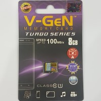 Memori Micro SD V-Gen Memory Card 8gb Class 10 Turbo Vgen Original