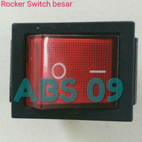 Saklar ac lampu on off kotak Rocker switch besar kaki 4