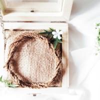 RING BOX 10x10x5 - WEDDING RINGBOX - KOTAK CINCIN RUSTIC