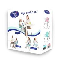 Baby Safe High Chair 3 in 1 / Kursi Makan Anak HC05