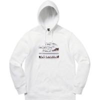 Supreme x TNF Logo Hoodie - White 100% Original