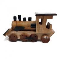 Indonesian Handmade Woodcraft - Miniatur Kayu Kereta Api Lokomotif