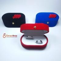 Tempat Cincin Sepasang / Kotak Cincin Kawin Couple Oval Bludru