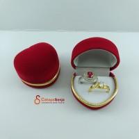 Tempat cincin sepasang / Kotak Cincin Tunangan Couple Love Beludru