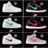 Barang berkualitas nike force one high sepatu kets sneakers wanita st