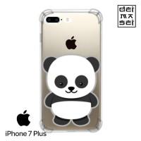 Panda Cute Casing Iphone 7 Plus Anti Crack Anticrack Custom Case HP