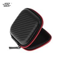 KZ Storage Case Bag Earphone IEM Earpods Carrying Pouch Motif Carbon