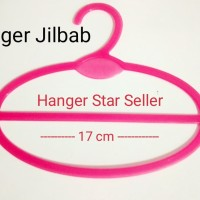 Hanger Jilbab Oval Pink