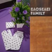 kaos kaki jempol family putih motif polkadot 12pcs