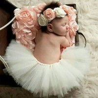 Baby Photography Property Tutu Skirt Headband Perlengkapan Foto Bayi
