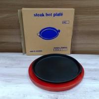 STEAK HOT PLATE BULAT / PIRING STEAK BENTUK BULAT / HOTPLB