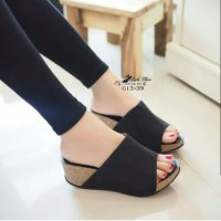 SANDAL WEDGES CHRISTY HITAM