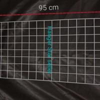 Ram Jaring Dinding 45 x 95 cm Gantungan kawat hook dan Sepatu