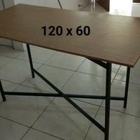 PROMO uk 120x60 Meja Lipat/Meja Bazar/Meja Kantin/Meja Cafe