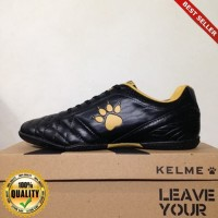 HayuFutsal - Sepatu Futsal Kelme Power Grip Black Gold 1102091 Origin