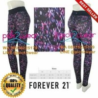 O-Outdoor Forever 21 legging yoga gym zumba purple printed