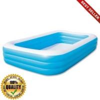 O-Outdoor kolam renang anak jumbo (305 cm ) - kotak polos 54009 bestwa