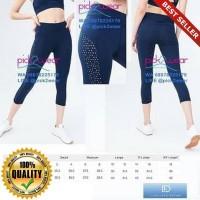 O-Outdoor Celana senam sport pants yoga zumba gym laser cut navy blue