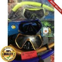 O-Outdoor kacamata snorkeling / alat selam / mask diving tempered glas