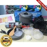 O-Outdoor Paket Hemat Cooking set / Nesting 2 person & Kompor Camping
