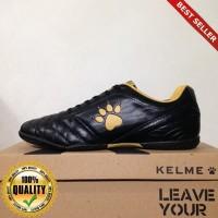 O-Outdoor Sepatu Futsal Kelme Power Grip Black Gold 1102091 Original B