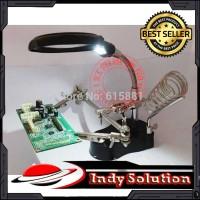 Alat Pegangan Solder Kaca Pembesar Helping Hand alat servis hp