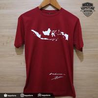 Kaos baju Combed 30S Distro PETA Indonesia TANDA TANGAN SOEKARNO HATTA