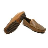 Handel - Tan, Driving Shoes | Sepatu Kulit Asli Pria