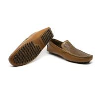 Hamilton - Tan, Driving Shoes | Sepatu Kulit Asli Pria