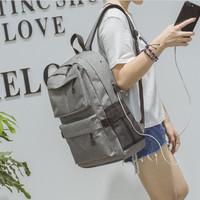 NEW Tas Ransel USB port charger,Smart Backpack Anti Air Anti Maling