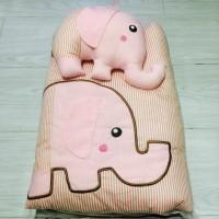 Tooi Selimut Custom Bedcover Gajah dengan Boneka Baby Gift