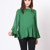 A&D Green Loose Blouse Ms 1196 - Green