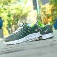 Sepatu Nike Airmax 3D Skin Abu Hijau Sport Running Pria Wanita