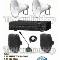 Paket TOA SOUND SYSTEM AMPLI TOA 2 Corong 2 speaker Dalam Marcopolo