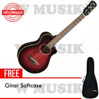 Yamaha Gitar (3/4) APX T2 / APXT2 / APX-T2 - Dark Red Burst + Softcase
