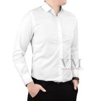 VM Kemeja Polos Slimfit Tangan Panjang Putih Kemeja Formal Slim
