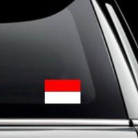 Cutting Sticker / Stiker Kaca Mobil Bendera Indonesia Flag Merah Putih