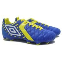 Sepatu Bola Umbro Medusae II Club HG Electric Blue Blazing Yellow