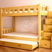 Tempat Tidur Kamar Anak Tingkat - Dipan Susun Simpel Jati Free Ongkir