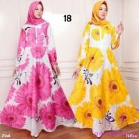 maxi emy 18 pink kuning baju gamis wanita terbaru busana muslim murah