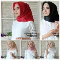 Jilbab segi empat organza silk premium
