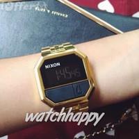 Nixon A158502 RE-Run All Gold Unisex Watch Original Bergaransi