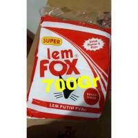 Lem Fox Putih SUPER Plastik MERAH Pvac Plamur Kayu Kertas 700 Gr Gram