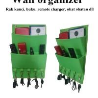 Wall Organizer , Rak Kunci, Buku,Remote,Majalah